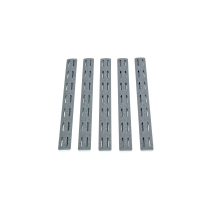 Panele ochronne do łoża w systemie KeyMod pięciopak BCM Rail Panel Kit 5.5 inch Five Pack Wolf Gray